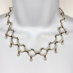 Fenaroli Boston Silver Tone Faux Diamond Necklace